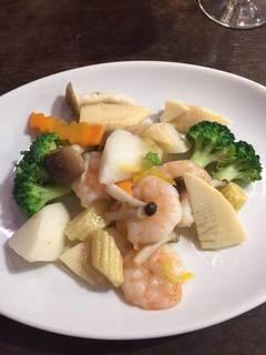 海老と山芋の柚子胡椒炒め