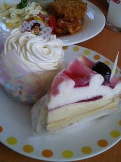 レアチーズケーキ(ぶどう)