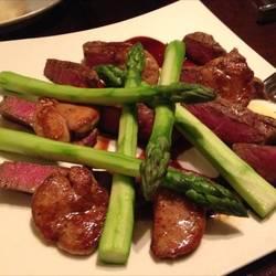 牛肉とフォワグラのソテー