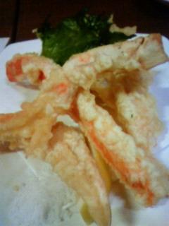 ふわふわズワイ蟹の天ぷら