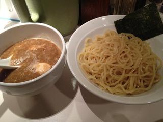 煮魚つけ麺
