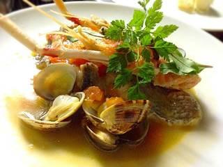 手長海老と真鯛のアクアパッツァ