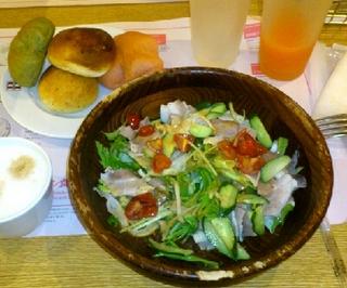 豚しゃぶのピリ辛胡麻風味サラダ