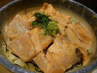 魚沼サーモンの炙り丼