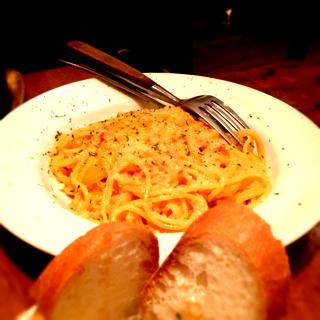 たっぷりずわいかにのトマトクリームスパゲティー
