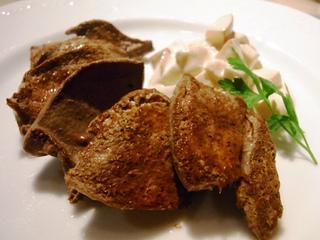 イベリコ豚のレバーソテー