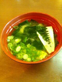 筍と若布の味噌汁