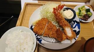 ロース海老定食