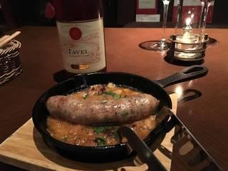 イタリア産ソーセージのグリルと白インゲン豆の煮込み