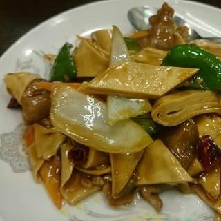 干豆腐とピーマンの炒め物