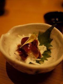 うにと長芋の山葵醤油