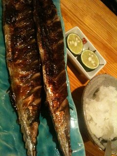 秋刀魚の腸焼き