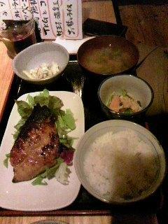 銀ダラの西京味噌焼き定食