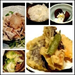 梅おろしの冷しゃぶと旬野菜天麩羅御膳
