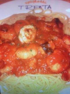 海の幸トマトソース
