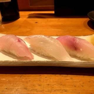 超速鮮魚にぎり3種