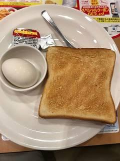 トースト&ゆで卵セット