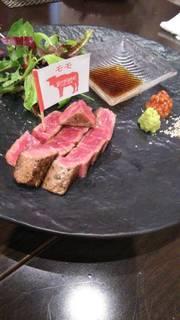 熟成和牛のステーキ