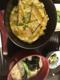 焼き穴子柳川丼 と 飛龍頭煮麺