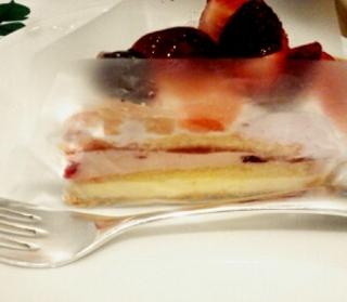 星型桜クリームのチーズタルト