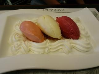 アイスクリーム三種盛