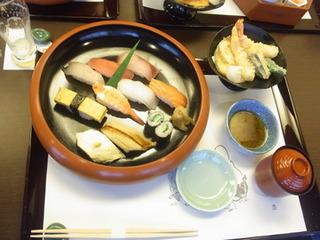 すし定食 天ぷら付き