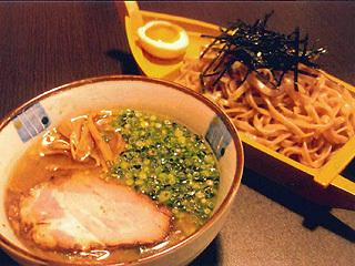 肉そばつけ麺・魚介醤油つけ麺