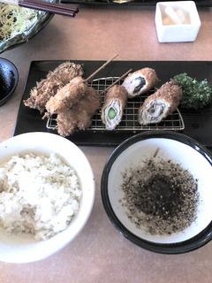 黒胡椒野菜定食