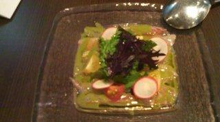 鮮魚のカルパッチョ 鎌倉野菜添え