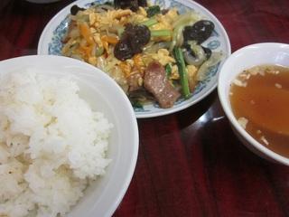 木クラゲと玉子野菜炒め