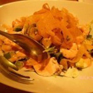 海老とアボカド・チキンのサラダ