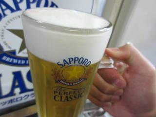 生ビール(サッポロクラシック)