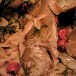 イサキの香草魚介煮込み