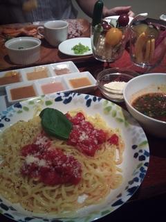トマトパスタつけ麺