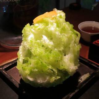 かき氷(バジルレモン)