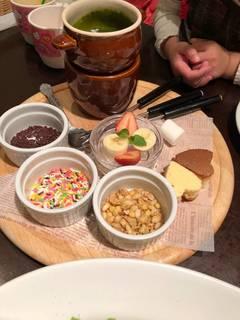 抹茶チョコレートフォンデュ