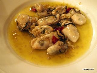 牡蠣のオリーブオイル