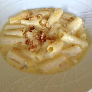 自家製リガトーニの洋ナシとクルミのゴルゴンゾーラソース