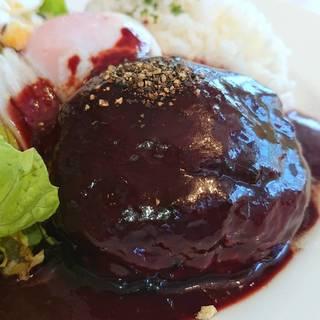 肉汁あふれる国産豚のハンバーグ