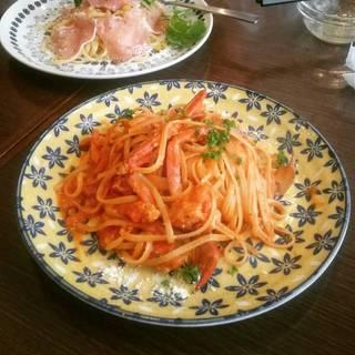 り蟹の濃厚トマトクリームソーススパゲッティ