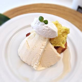 スウィートポテトと甘栗シロップのフレンチトースト
