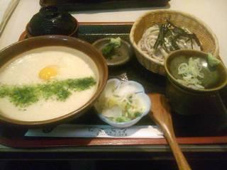 麦とろ+蕎麦(小)