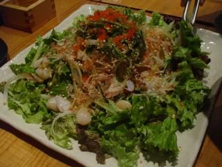 たこと貝柱の海鮮サラダ