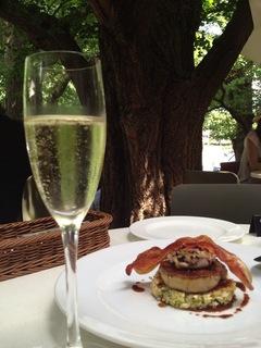 フォアグラと牡蠣のお好み焼き ペリグーソース
