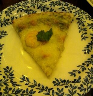 小海老とモッツアレラチーズのジェノベーゼ
