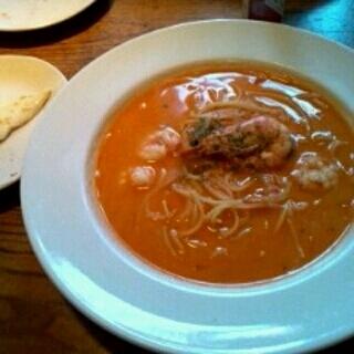 エビとホタテのトマトクリームスープ