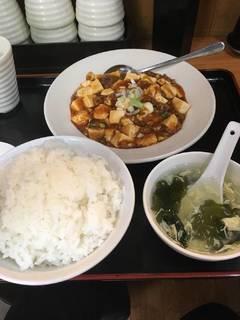 麻婆豆腐の定食