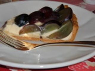 ナガノパープルとクリームチーズのタルト