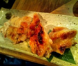 大山地鶏の粗塩焼き