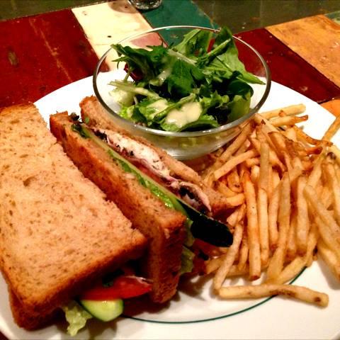 焼き鯖と茄子のサンドイッチ
